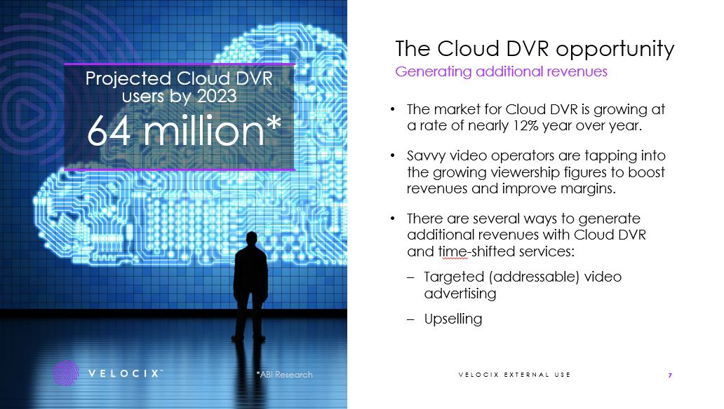 Cloud DVR webinar presentation page